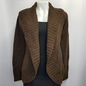 Vince Chocolate Brown Cocoon Cardigan Sweater M